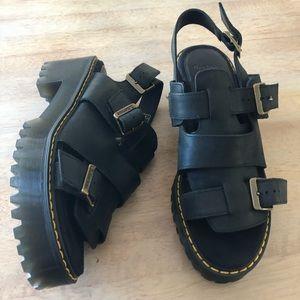 Dr. Martens leather Ariel heeled sandal